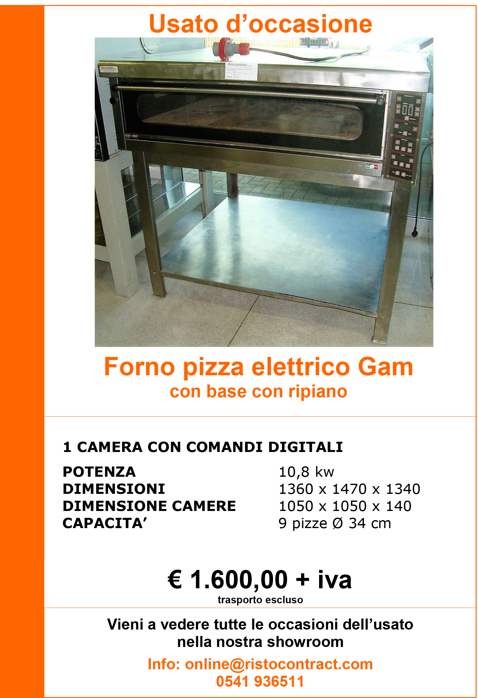 forno pizza GAM 1 camera